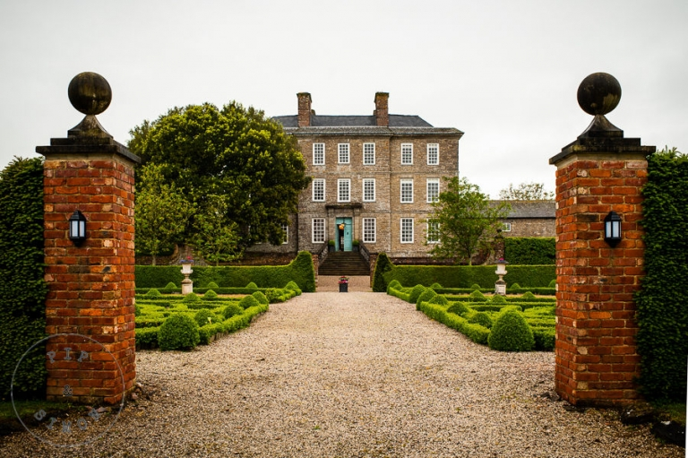 A view of the main house at Kingston Estate as seen from the front gardens.