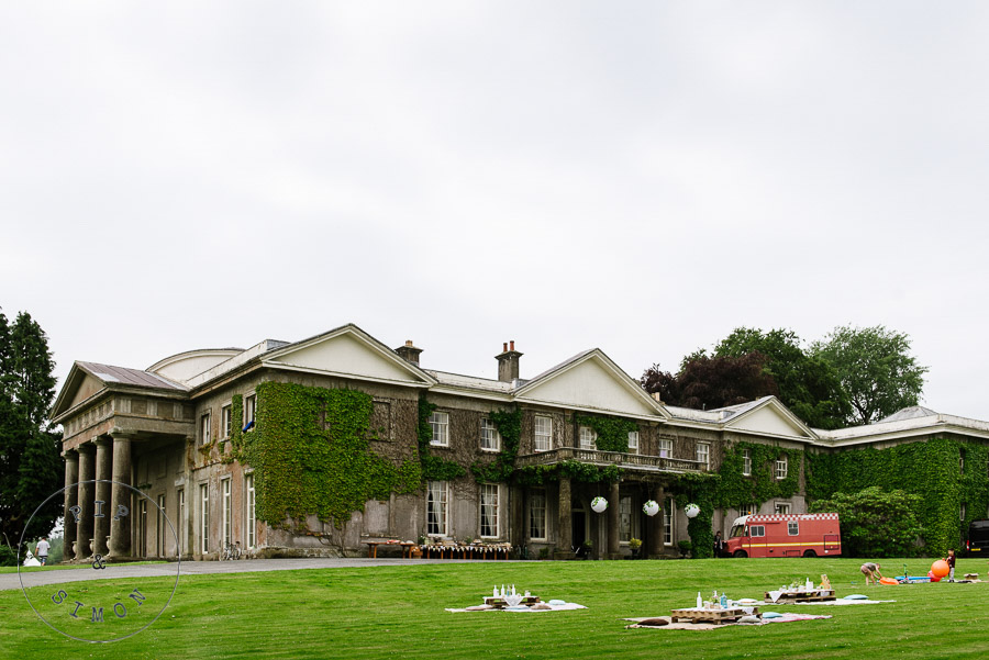Front view of Buckland House in North Devon